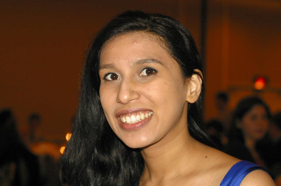 Deepta Janardhan, pictured here at the NorthAms 2013 banquet, was already preparing novice training sessions and ways to grow the team.