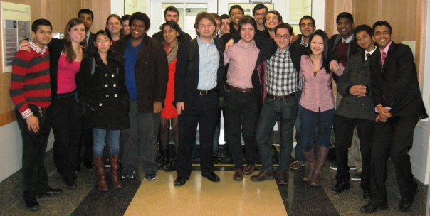 The extensive Rutgers crew at TCNJ gathers for the photo to document the trip.  Left to right:  Grisam Shah, Becky Ratero, George Alukal, Lin Lan, Storey Clayton, Nick Hansen, Maxwell Williams, Deepta Janardhan, Gordon Morrisette, Russell Potter, Josh Pomerantz, Adam Bomeisl, Soham Shukla, Henry Phipps, Quinn Maingi, Zach Sinkiewicz, Chris Bergman, Suraj Oza, Rachel Moon, Vidhaath Sripathi, Ali Ismail, and Nimit Jindal.  (Not pictured:  Arbi Llaveshi and Jason Boyle.)